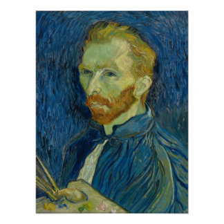 Self-Portrait (1889) by Van Gogh Poster