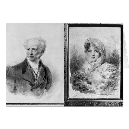Self portrait and portrait of Princess Card
