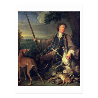 Self Portrait as a Hunter, 1699 (oil on canvas) Postcard