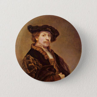 Self Portrait At The Age Of 33 By Rembrandt 6 Cm Round Badge