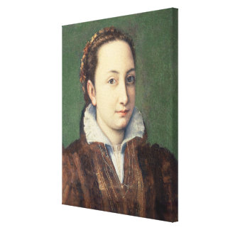 Self portrait, attired as maid-of-honour canvas print