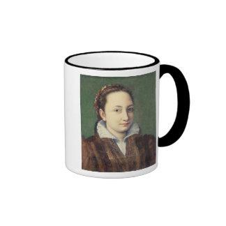 Self portrait, attired as maid-of-honour ringer mug