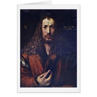 Self-Portrait By Albrecht Durer Card