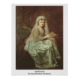 Self-Portrait By Anna Dorothea Therbusch Poster