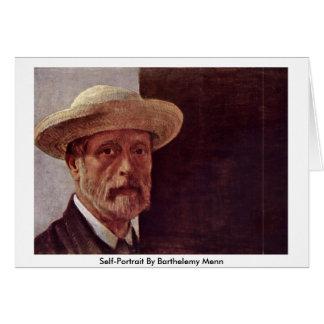 Self-Portrait By Barthelemy Menn Card