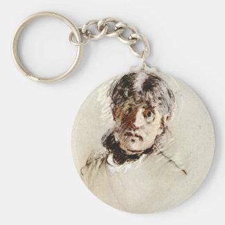 Self-Portrait by Berthe Morisot Keychains