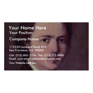 Self-Portrait By Grigorescu Nicolae (Best Quality) Pack Of Standard Business Cards