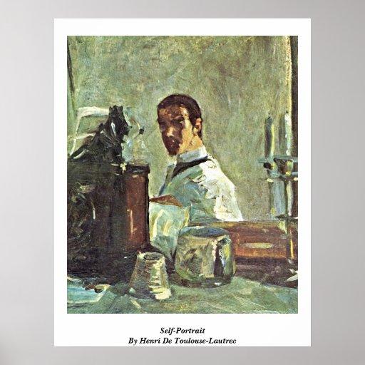 Self-Portrait By Henri De Toulouse-Lautrec Poster