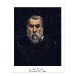 Self-Portrait. By Jacopo Tintoretto Postcard