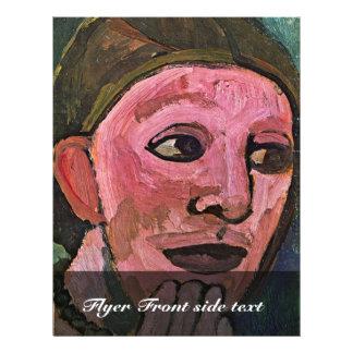 Self-Portrait By Modersohn-Becker Paula 21.5 Cm X 28 Cm Flyer