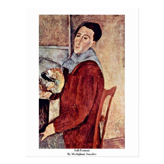 Self-Portrait By Modigliani Amedeo Postcard