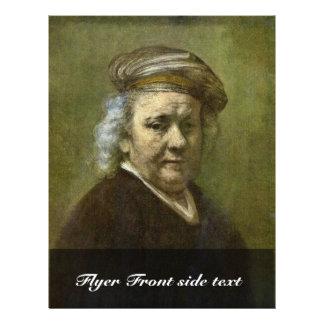 Self-Portrait  By Rembrandt Van Rijn 21.5 Cm X 28 Cm Flyer