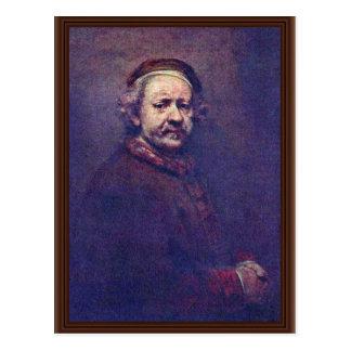 Self-Portrait. By Rembrandt Van Rijn Postcard