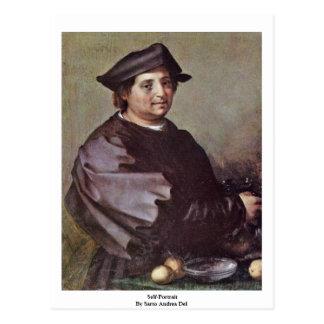 Self-Portrait By Sarto Andrea Del Postcard