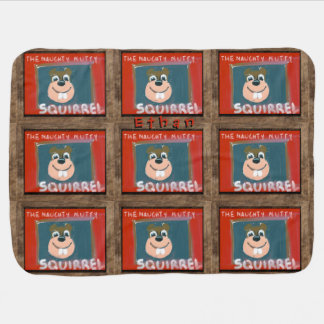 Self-portrait by the NN Squirrel Baby Blanket Name