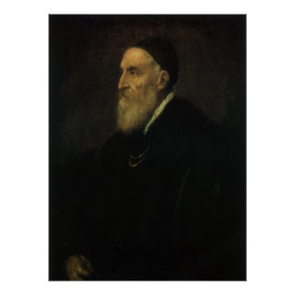Self Portrait by Titian, Renaissance Art Poster