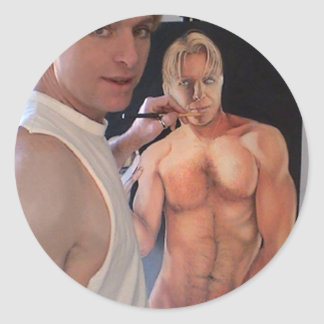 Self Portrait Classic Round Sticker