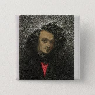 Self portrait, dressed for 'Hernani' 15 Cm Square Badge
