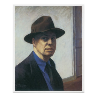 Self-Portrait Edward Hopper Poster