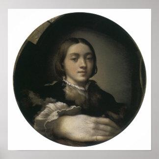 Self-Portrait in a Convex Mirror, 1524 Poster