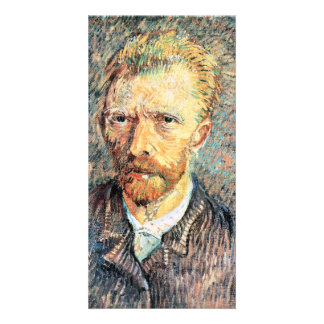 Self-portrait in brown shirt by Vincent van Gogh Customized Photo Card