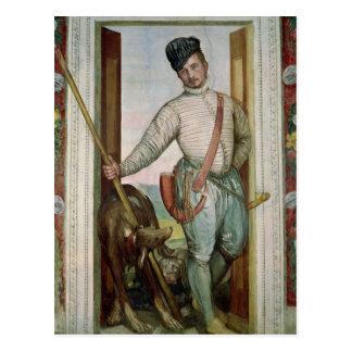 Self Portrait in Hunting Costume, 1562 Postcard