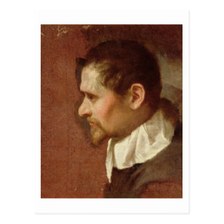 Self Portrait in Profile (oil on canvas) Postcard