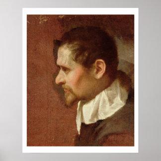 Self Portrait in Profile (oil on canvas) Poster