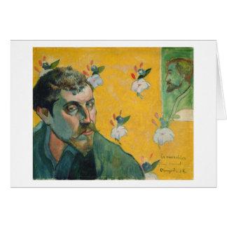 Self Portrait, Les Miserables,1888 (oil on canvas) Card