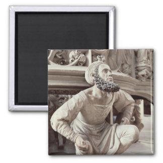 Self portrait of Adam Krafft , stone sculpture Square Magnet