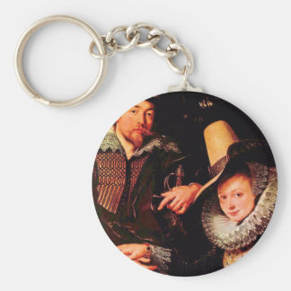 Self-portrait of the Rubens and his wife, Isabella Keychains