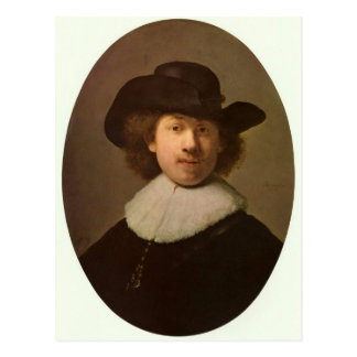 Self-Portrait Oval, by Rembrandt Postcard