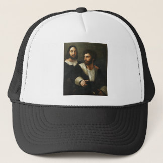 Self-portrait with a friend by Raphael Trucker Hat