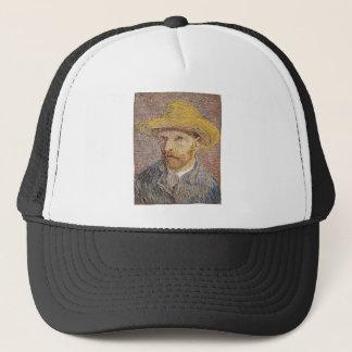 Self-Portrait with a Straw Hat - Van Gogh