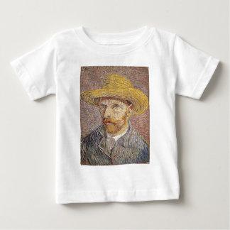 Self-Portrait with a Straw Hat - Van Gogh Baby T-Shirt