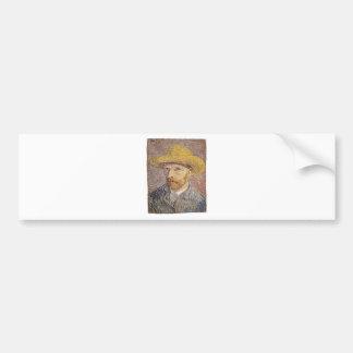 Self-Portrait with a Straw Hat - Van Gogh Bumper Sticker