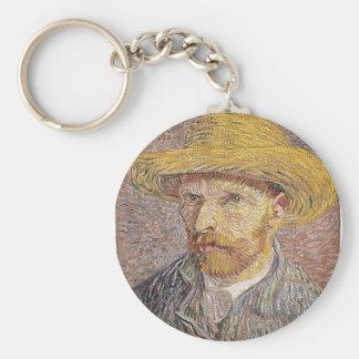 Self-Portrait with a Straw Hat - Van Gogh Key Ring
