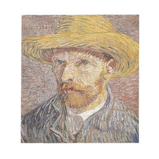 Self-Portrait with a Straw Hat - Van Gogh Notepad