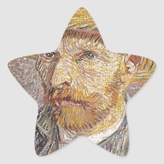 Self-Portrait with a Straw Hat - Van Gogh Star Sticker