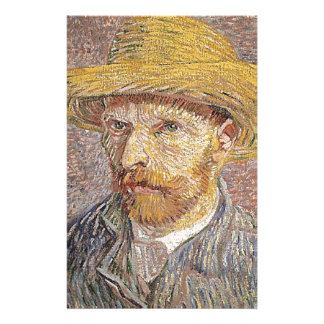 Self-Portrait with a Straw Hat - Van Gogh Stationery