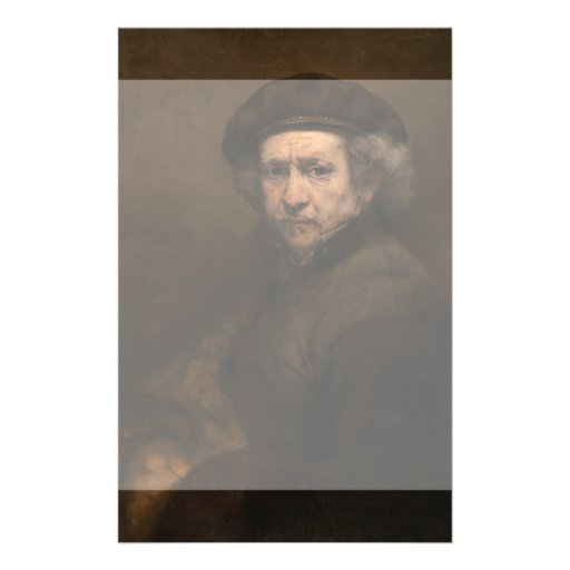 Self-Portrait with Beret by Rembrandt Flyer Design