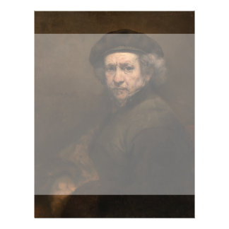 Self-Portrait with Beret by Rembrandt Personalized Flyer
