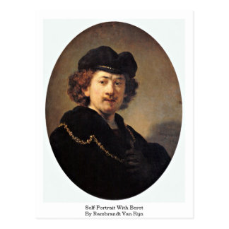 Self-Portrait With Beret By Rembrandt Van Rijn Postcard