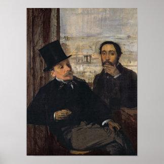 Self Portrait with Evariste de Valernes  c.1865 Posters