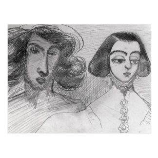 Self Portrait with George Sand Postcard