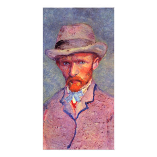 Self-portrait with gray hat by Vincent van Gogh Photo Card Template