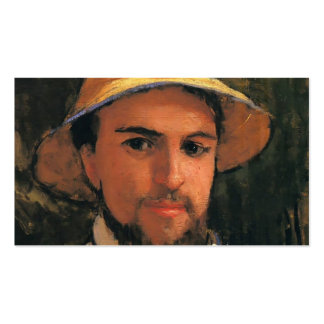 Self-Portrait with Helmet by Gustave Caillebotte Business Cards