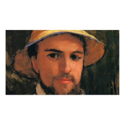Self-Portrait with Helmet by Gustave Caillebotte Business Card