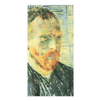 Self-portrait with Japanese woodblock - van Gogh Photo Card