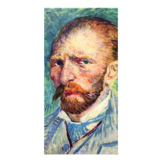 Self-portrait with light blue tie by van Gogh Photo Card
